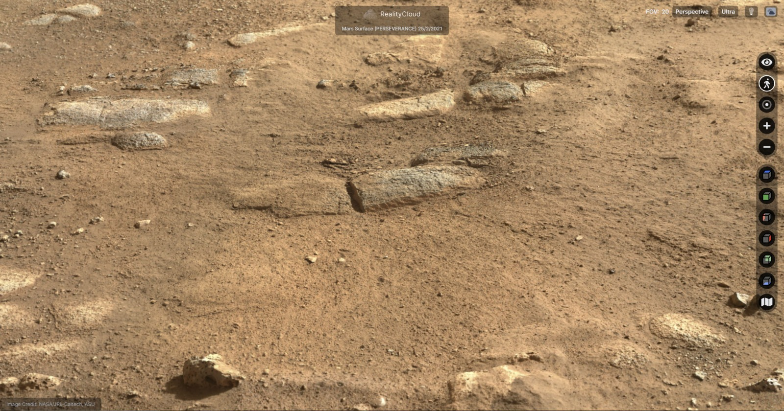 High-detailed 3d Martian rock formation